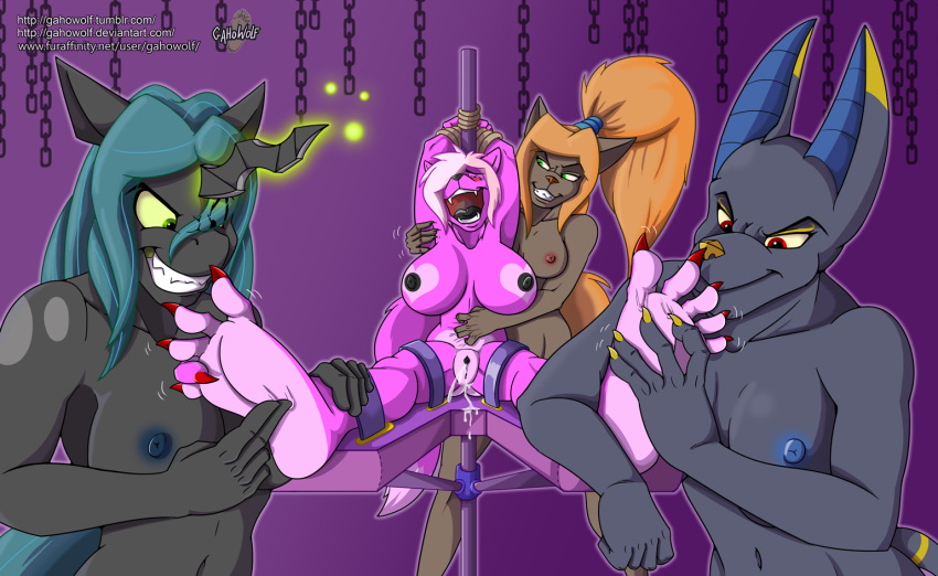 little torture tickle my pony Five nights in anime golden freddy